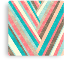 Palisade 1 - Geometric Abstract in Pastel Colors Canvas Print