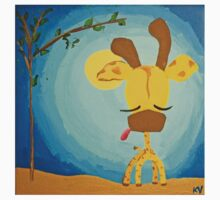 Giraffe (with background) T by kimberlyatstir