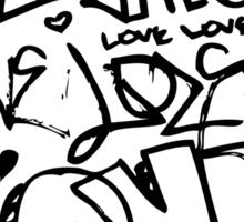 Love doodle Sticker