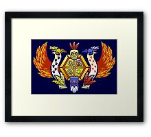 Treasure Hunters Crest (REVAMPED) Framed Print