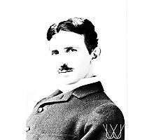Tesla [B&W] | The Wighte Collection Photographic Print