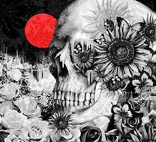 Fire in the dark, night skull by KristyPatterson