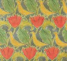 The Voysey Birds by Bridgeman Art Library