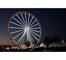 The Smoky Mountain Wheel ... At Night Photographic Print