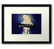 Alice; Whatever Framed Print