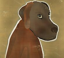 chocolate lab by bri-b