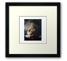 Christ In The Storm Galilee Framed Print