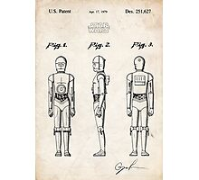 Star Wars C3PO Robot US Patent Art Photographic Print
