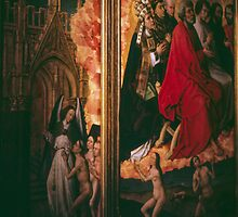 Tapestry of last judgement, Hotel de Dieu Beaune France 198404290031 by Fred Mitchell