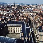 Looking west from tower of Philip Le Bon, Dijon France 198404300004 by Fred Mitchell