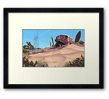 Mojave Metal III Framed Print