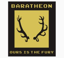 8-Bit Game of Thrones Baratheon Banner by Aaron Taylor