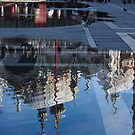 Reflecting on Domes, Birds and Puddles - Acqua Alta in Venice, Italy by Georgia Mizuleva