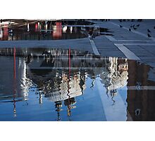 Reflecting on Domes, Birds and Puddles - Acqua Alta in Venice, Italy Photographic Print