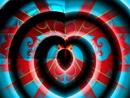 Loonie Heart Spirals by barrowda