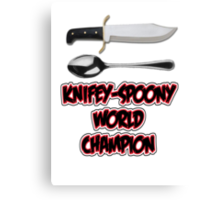 Knifey-Spoony World Champion Canvas Print