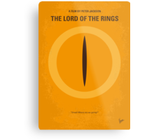 No039 My Lord of the Rings minimal movie poster Metal Print