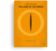 No039 My Lord of the Rings minimal movie poster Canvas Print