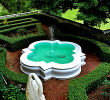 Garden Fountain at the Vanderbilt Estate by Gilda Axelrod