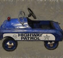 Highway Patrol Pedal Car by Michelle Calkins