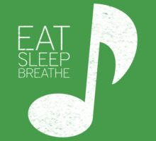 Eat, Sleep, Breathe Music Tee by Eddie Irvin