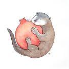 Otter & Pomegranate by Tim Gorichanaz