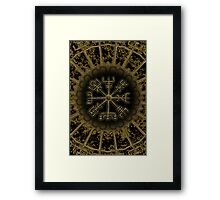 Vegvisir - Icelandic Magical Stave - Protection & Navigation  Framed Print