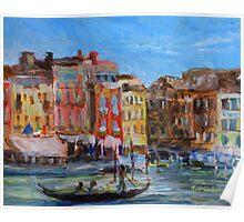 Venezia Canal Grande near Rio Marin Poster
