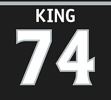 Los Angeles Kings Dwight King Phone Case by RussJericho23