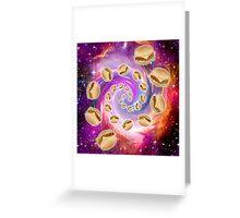 Spiral Galaxy of Burgers Greeting Card