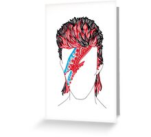 Aladdin Sane  Greeting Card