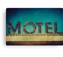Vintage Motel Sign Canvas Print