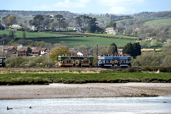 Trams At Seaton, Devon,UK by lynn carter