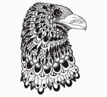 Zentangle Bird - Eagle Head by amezaart