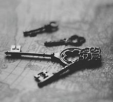 Key to Happiness - Black & White Photograph by Chrissy Pauley