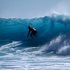 In The Blue At Snapper Rocks by Noel Elliot