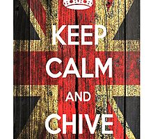 keep calm and chive on wood by adddi