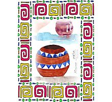 African Zulu beer pots - Ethnic series Photographic Print