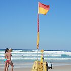 Beach Walkers and The Flag by FangFeatures