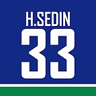 Vancouver Canucks Henrik Sedin Jersey Back Phone Case by Russ Jericho