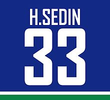 Vancouver Canucks Henrik Sedin Jersey Back Phone Case by RussJericho23