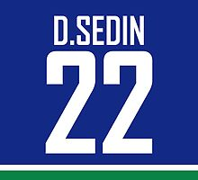 Vancouver Canucks Daniel Sedin Jersey Back Phone Case by RussJericho23