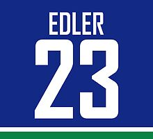 Vancouver Canucks Alex Edler Jersey Back Phone Case by RussJericho23
