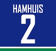 Vancouver Canucks Dan Hamhuis Jersey Back Phone Case by RussJericho23