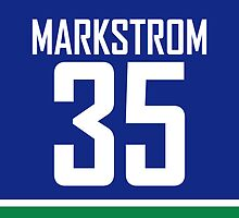 Vancouver Canucks Jacob Markström Jersey Back Phone Case by Russ Jericho