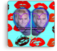 I LOVE YOU SHARON!!!!!!!!!!! with lips Canvas Print