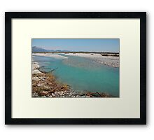 Tagliamento Floodplain Framed Print