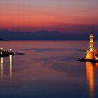 Night falling in Chania, Crete by Hercules Milas
