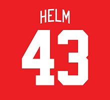 Detroit Red Wings Darren Helm Jersey Back Phone Case by Russ Jericho