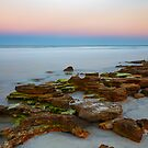 Rocky Beach Sunset by Kenneth Keifer